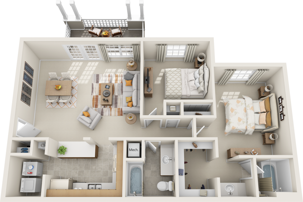 Northfield-Commons_2br-2ba---3D-for-Print